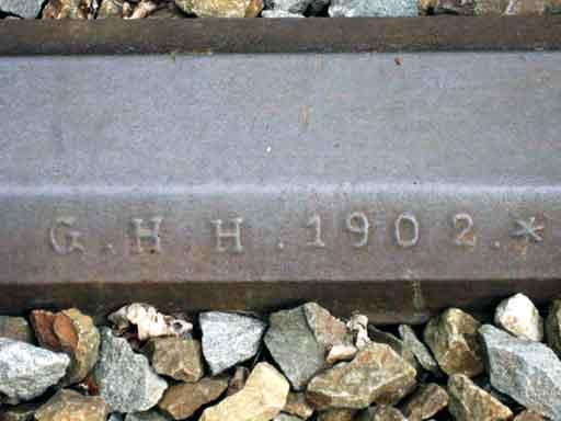 Gleis von 1902