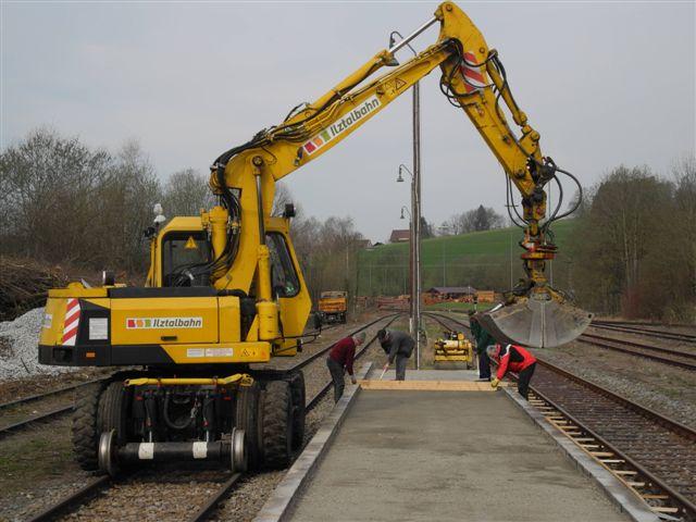 Neuer Bahnsteig Waldkirchen
