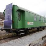 Solarzellen Waggon