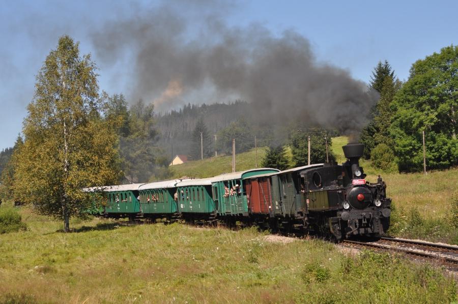 Tschechischer Dampfzug mit 310 093 in Stožec (Foto: T. Stifter)