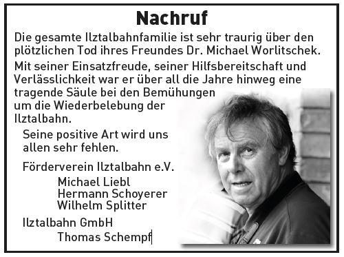 Nachruf Dr. Worlitschek