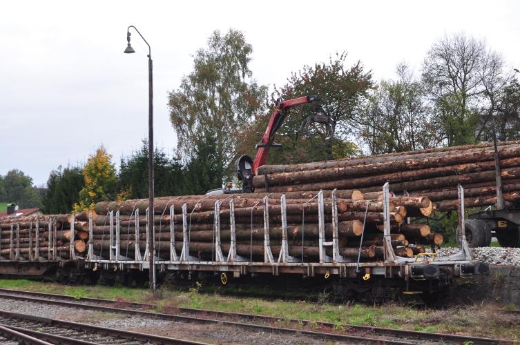 Erster Holzzug Waldkirchen