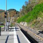 Neuer Bahnsteig in Vöhl-Herzhausen